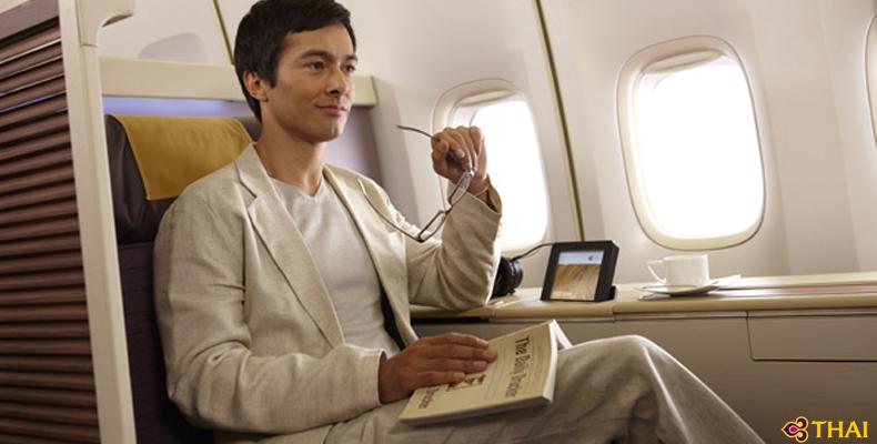 タイ国際航空ファーストクラスシートイメージ