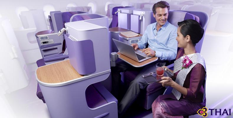 タイ国際航空ビジネスクラスシートイメージ